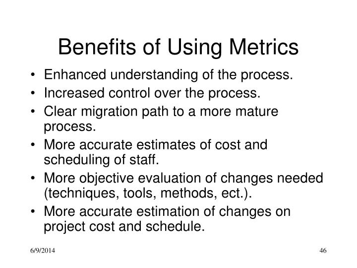 Benefits of Using Metrics