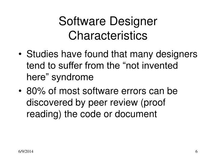 Software Designer Characteristics