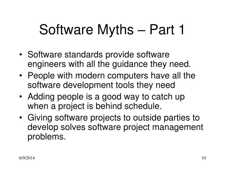 Software Myths – Part 1