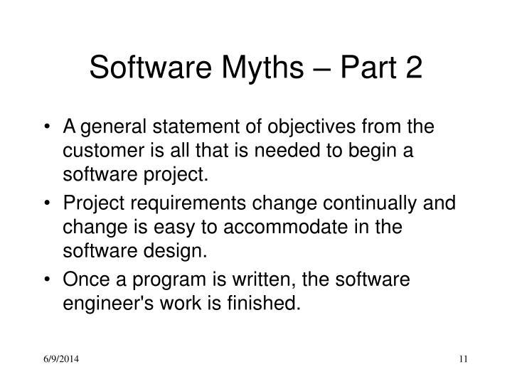 Software Myths – Part 2