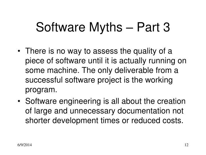Software Myths – Part 3