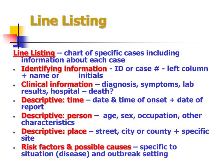 Line Listing