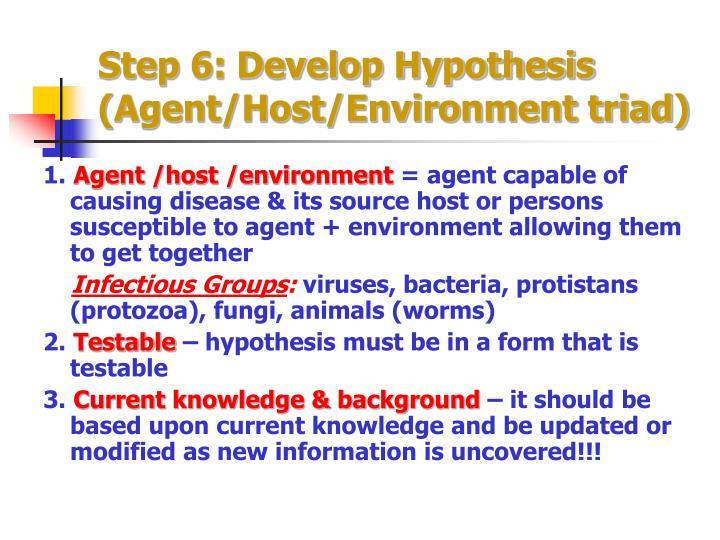 Step 6: Develop Hypothesis
