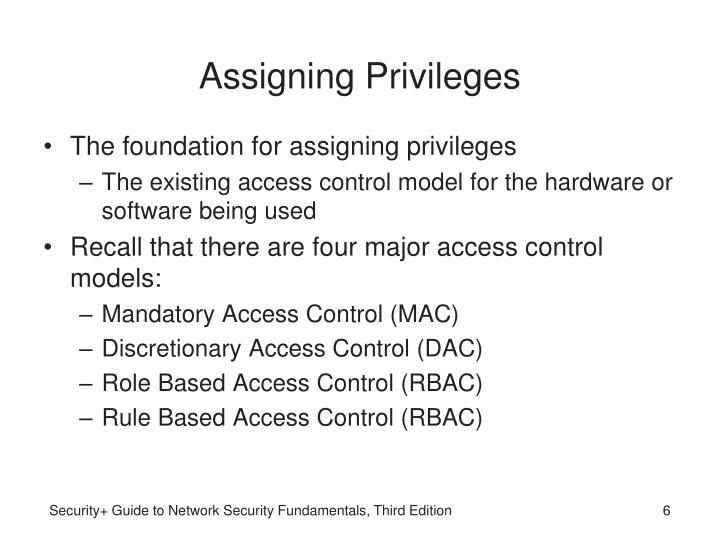 Assigning Privileges