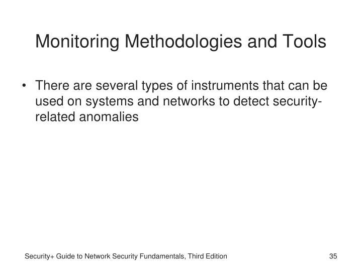 Monitoring Methodologies and Tools