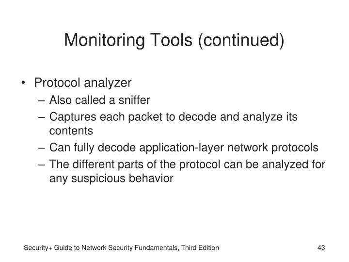 Monitoring Tools (continued)