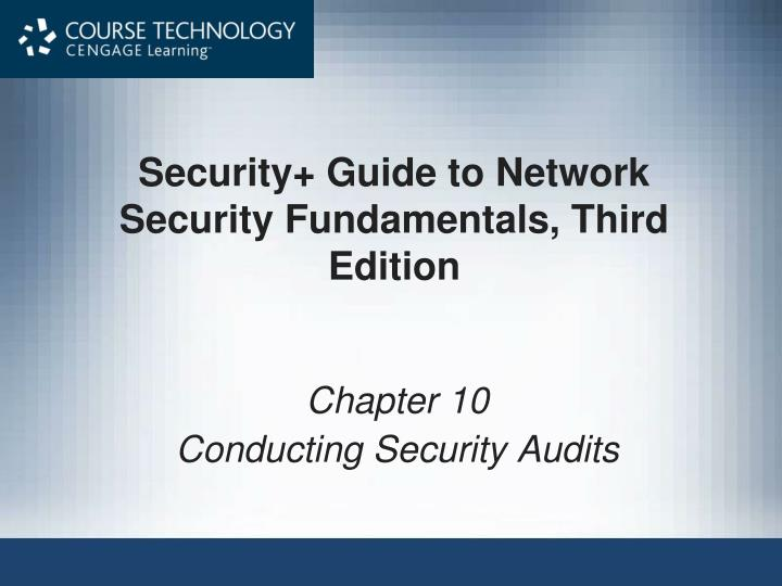 Security guide to network security fundamentals third edition