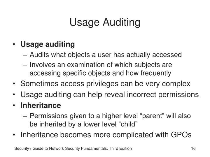 Usage Auditing