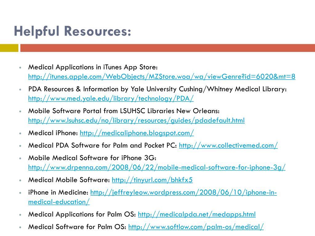 Helpful Resources: