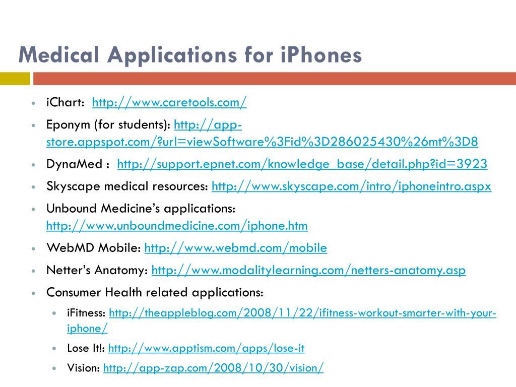 Medical Applications for iPhones