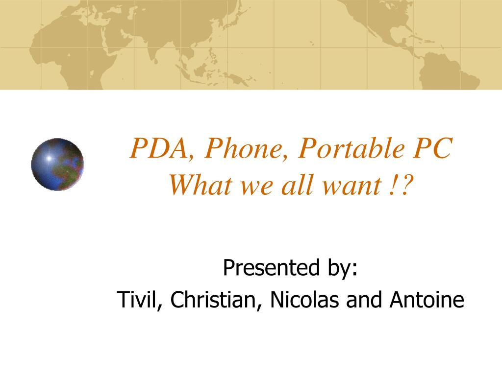 pda phone portable pc what we all want l.