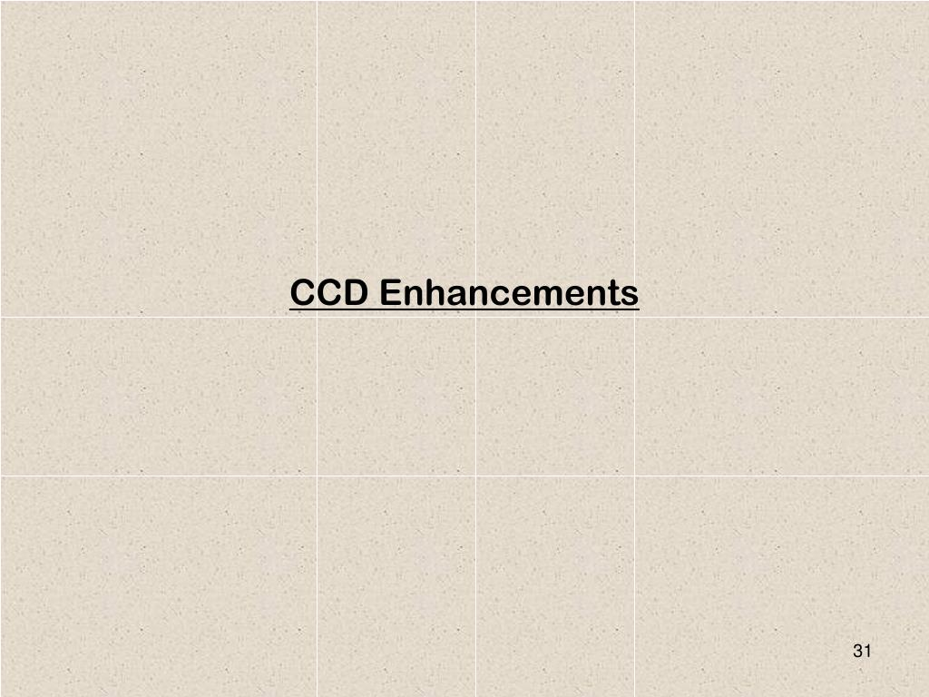 CCD Enhancements