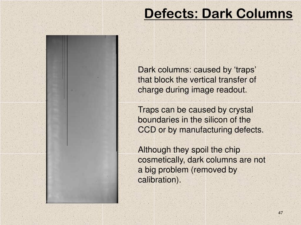 Defects: Dark Columns