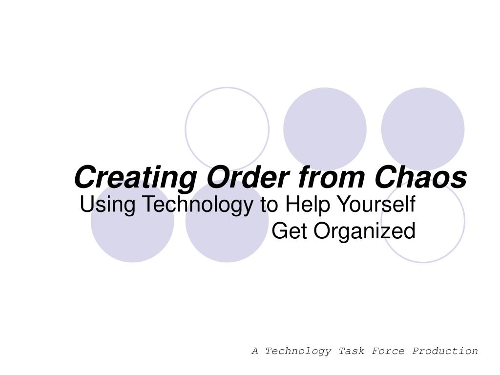 creating order from chaos l.