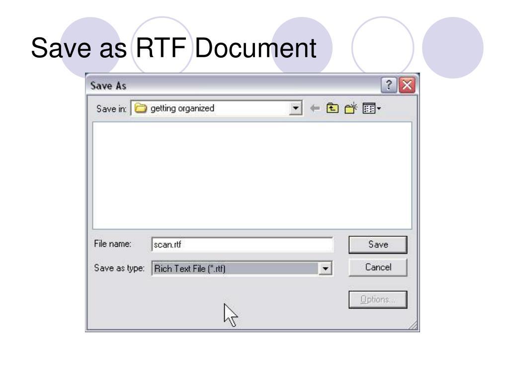 Save as RTF Document
