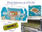 pixel detector at atlas