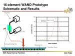 16 element wand prototype schematic and results