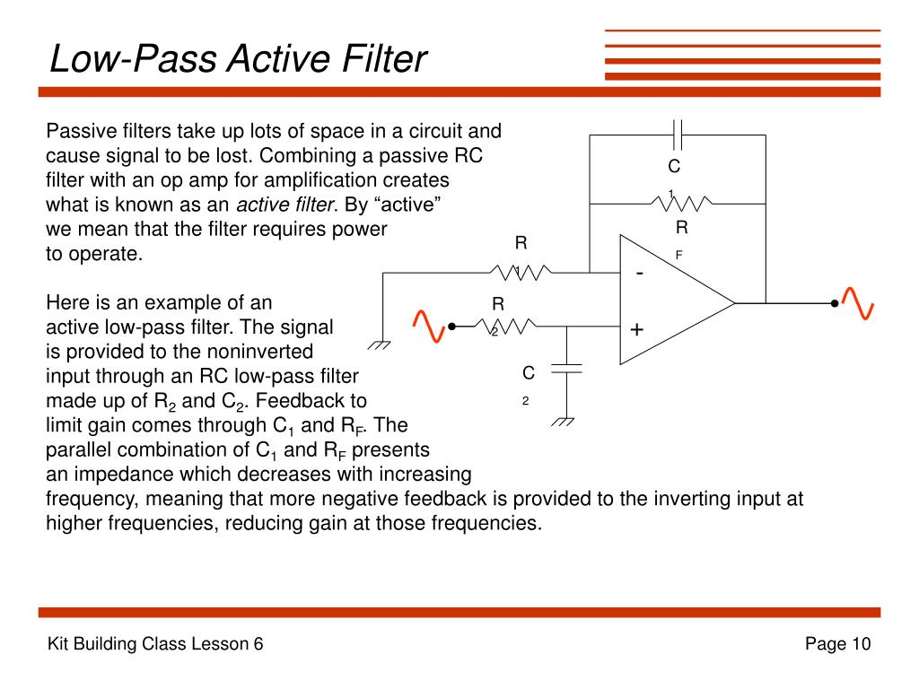 Low-Pass Active Filter
