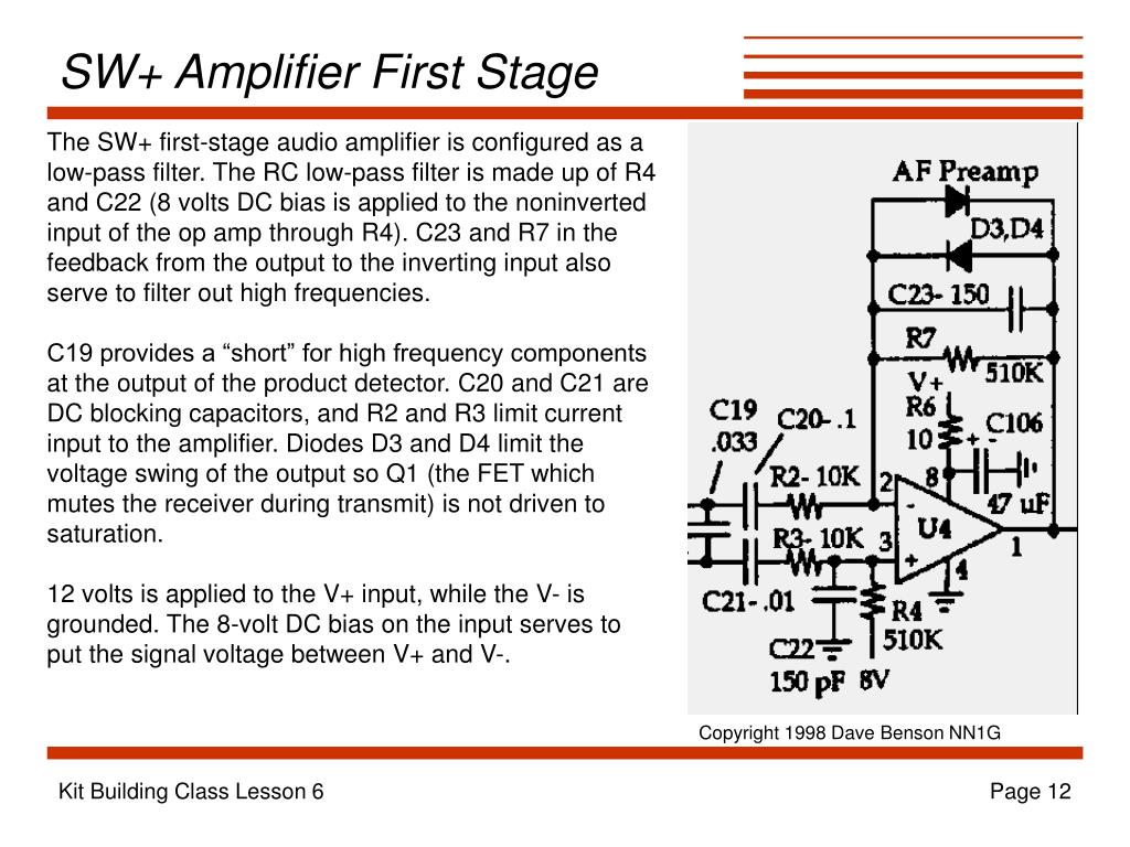 SW+ Amplifier First Stage