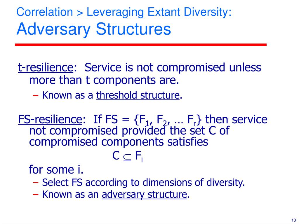 Correlation > Leveraging Extant Diversity: