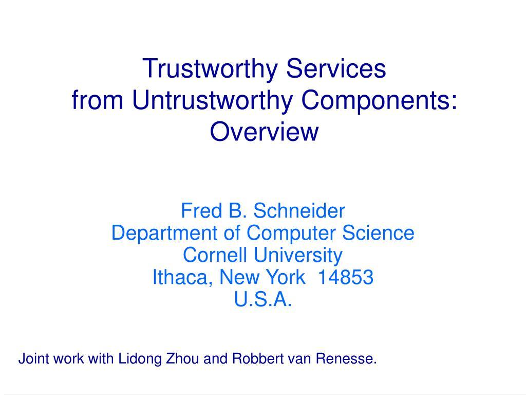 Trustworthy Services