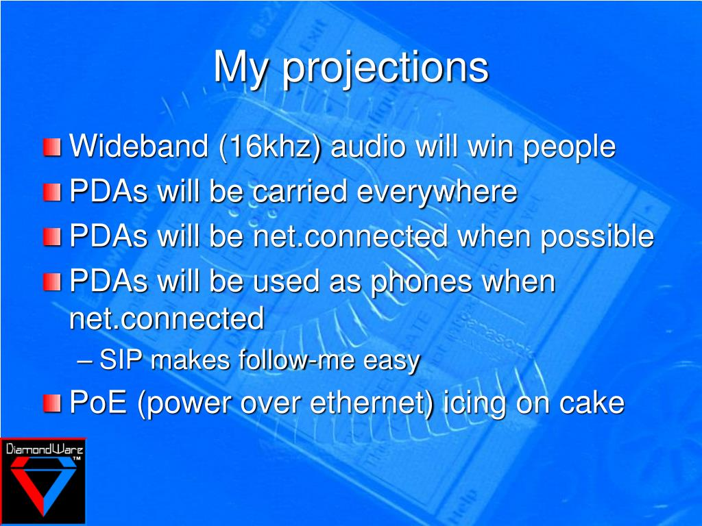 My projections
