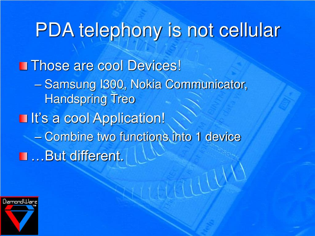 PDA telephony is not cellular