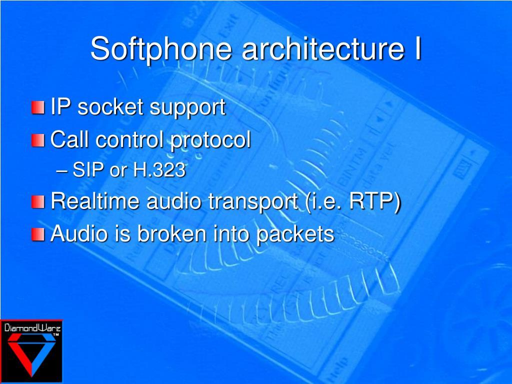 Softphone architecture I