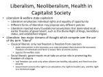 liberalism neoliberalism health in capitalist society