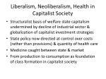 liberalism neoliberalism health in capitalist society10