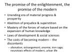 the promise of the enlightenment the promise of the modern