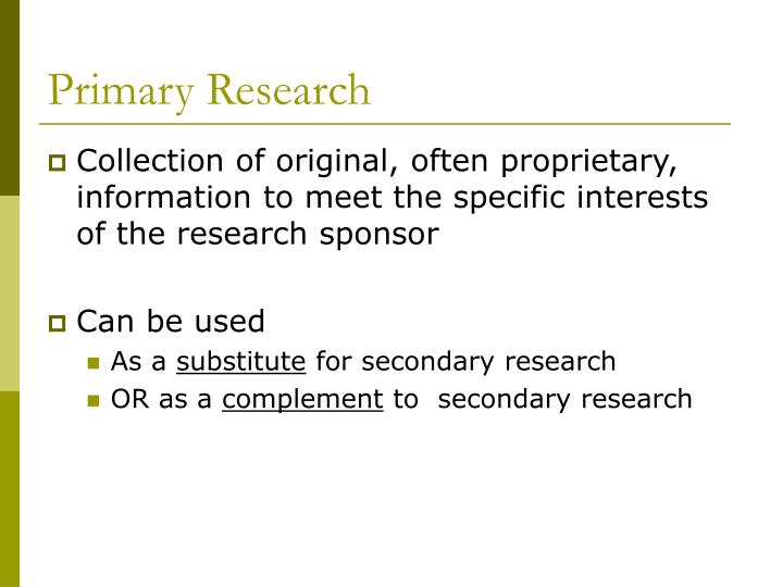 Primary research3