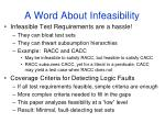 a word about infeasibility
