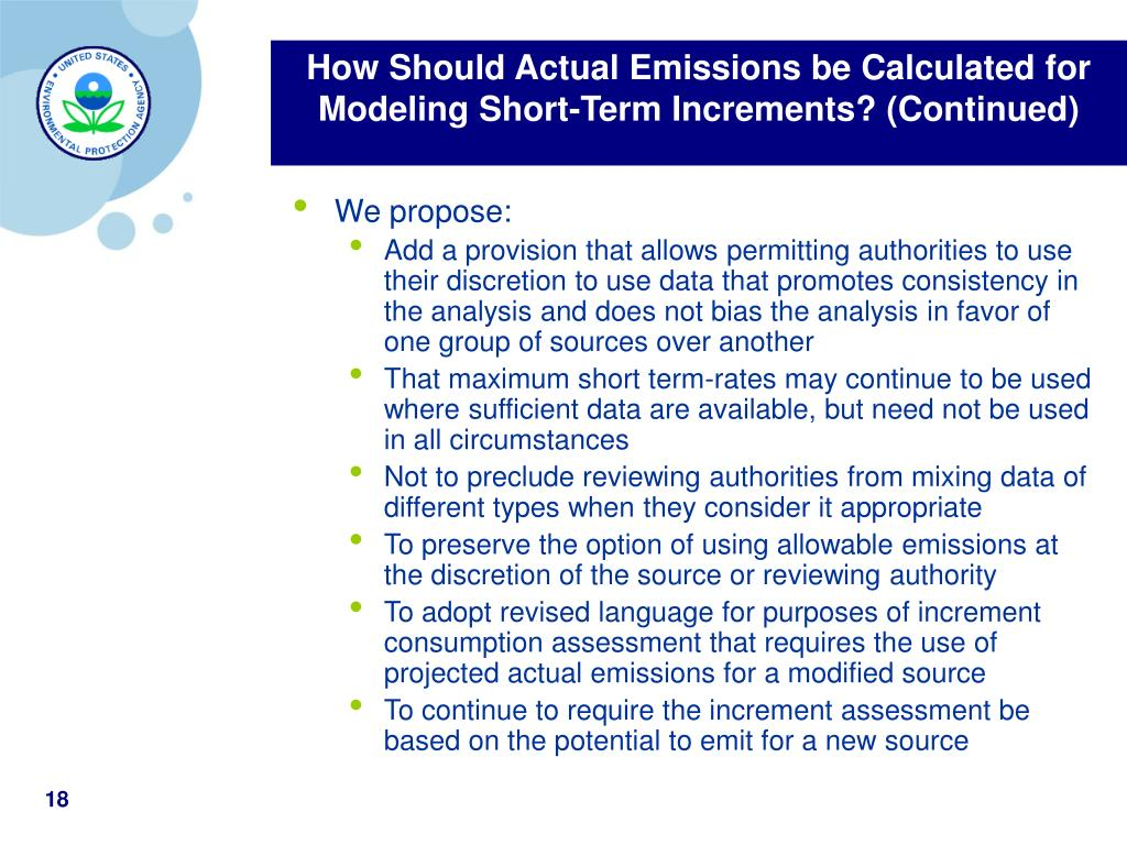 How Should Actual Emissions be Calculated for Modeling Short-Term Increments? (Continued)
