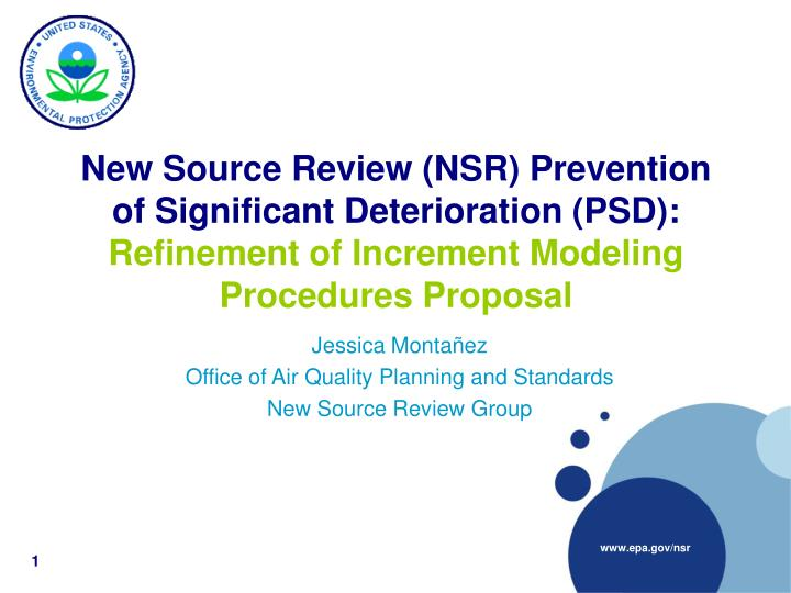 Jessica monta ez office of air quality planning and standards new source review group