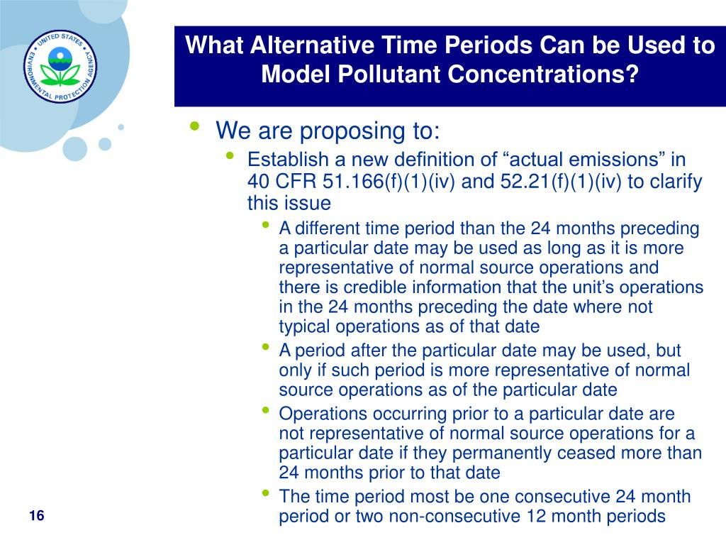 What Alternative Time Periods Can be Used to Model Pollutant Concentrations?