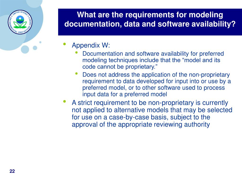 What are the requirements for modeling documentation, data and software availability?