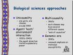 biological sciences approaches