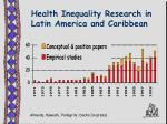 health inequality research in latin america and caribbean