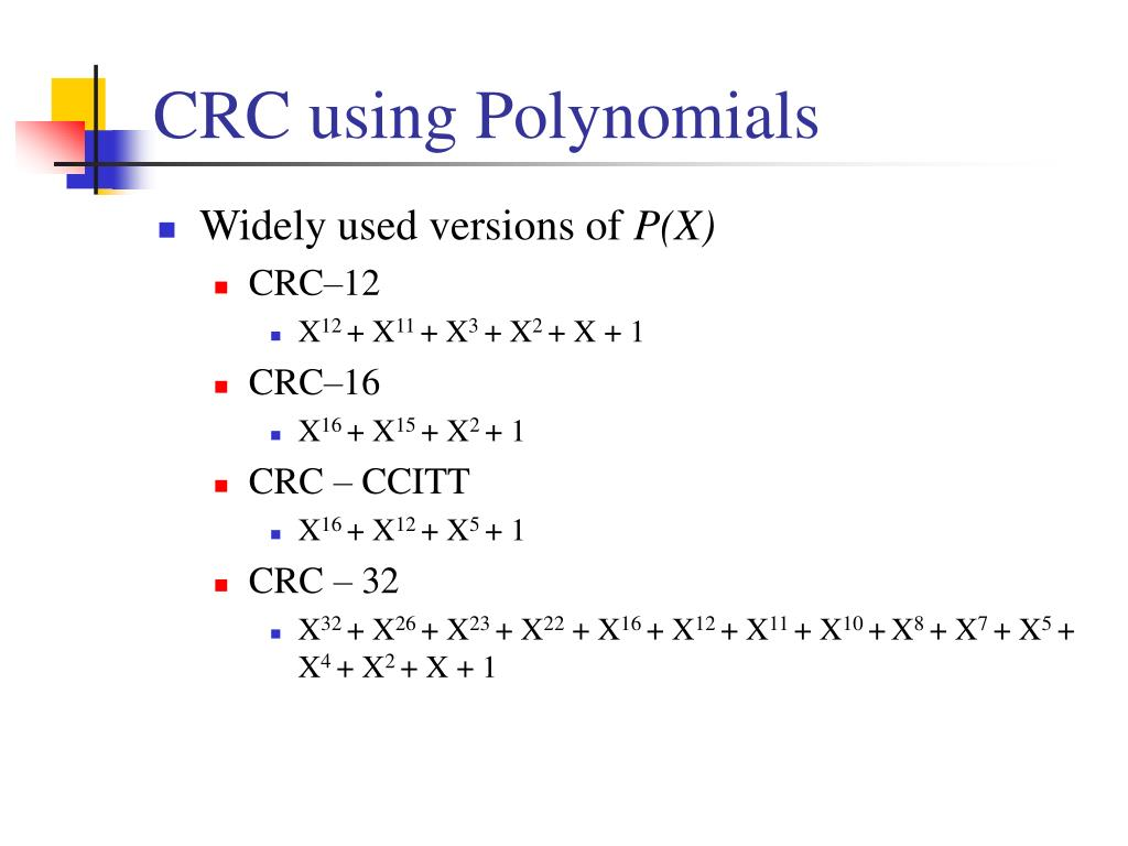 CRC using Polynomials