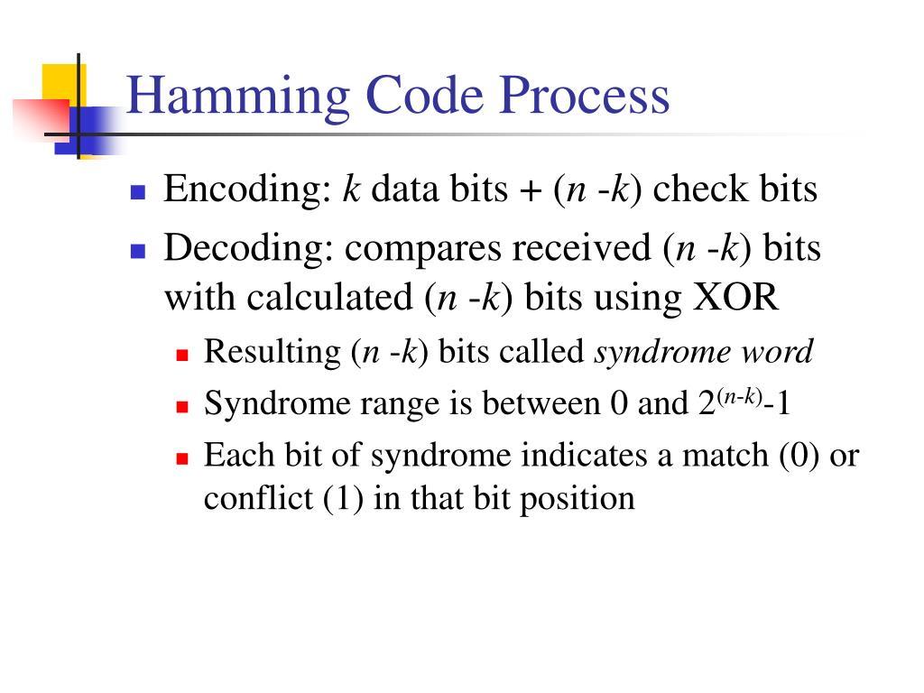 Hamming Code Process