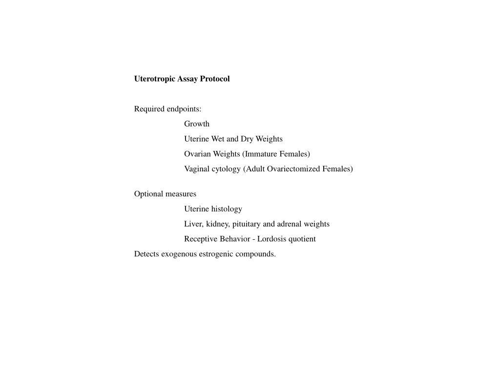 Uterotropic Assay Protocol