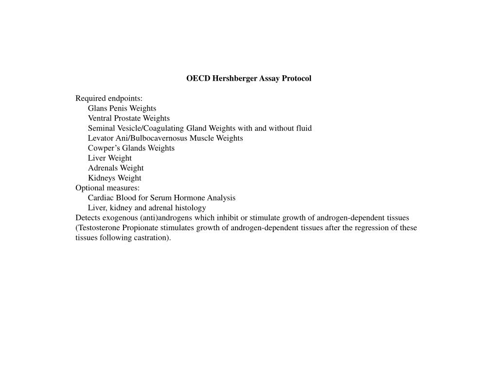 OECD Hershberger Assay Protocol