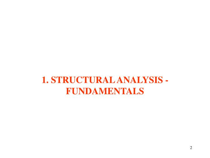 1 structural analysis fundamentals