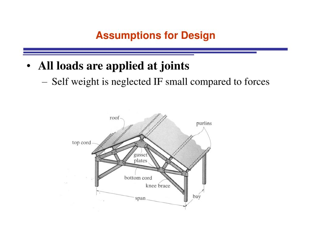 Assumptions for Design