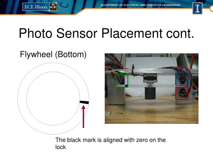 Photo Sensor Placement cont.