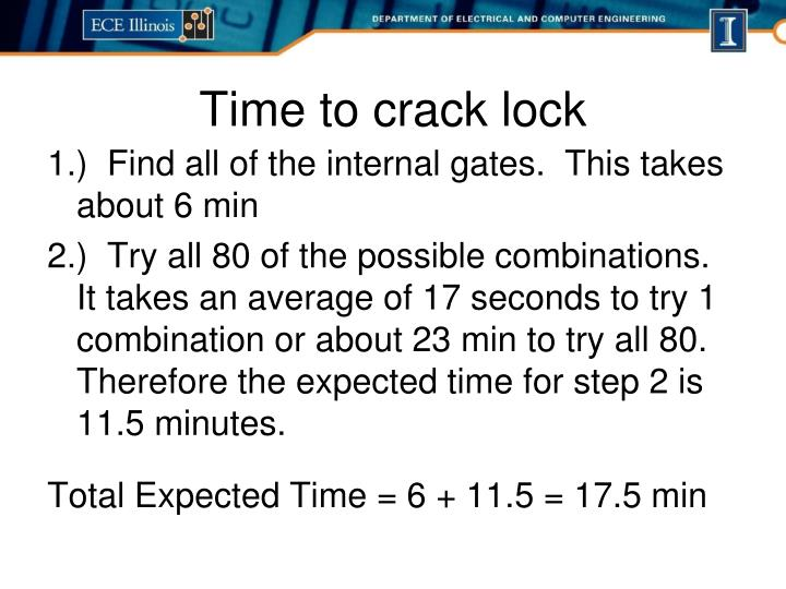 Time to crack lock