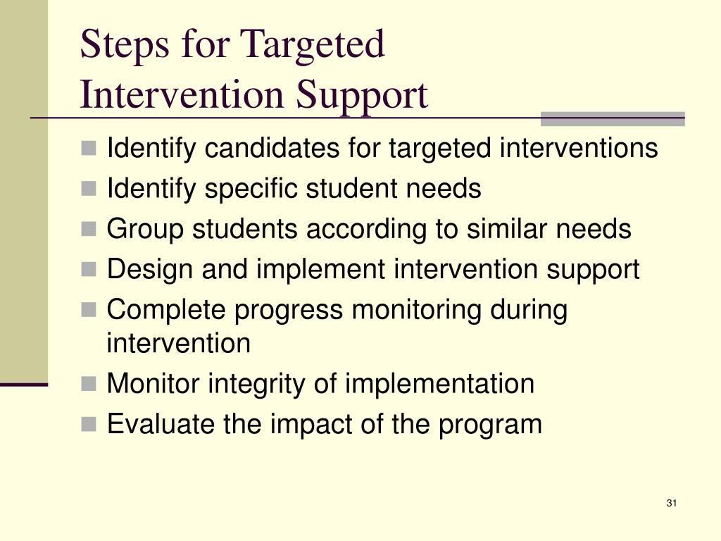 Steps for Targeted