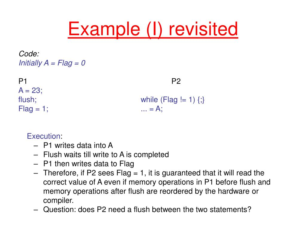 Example (I) revisited