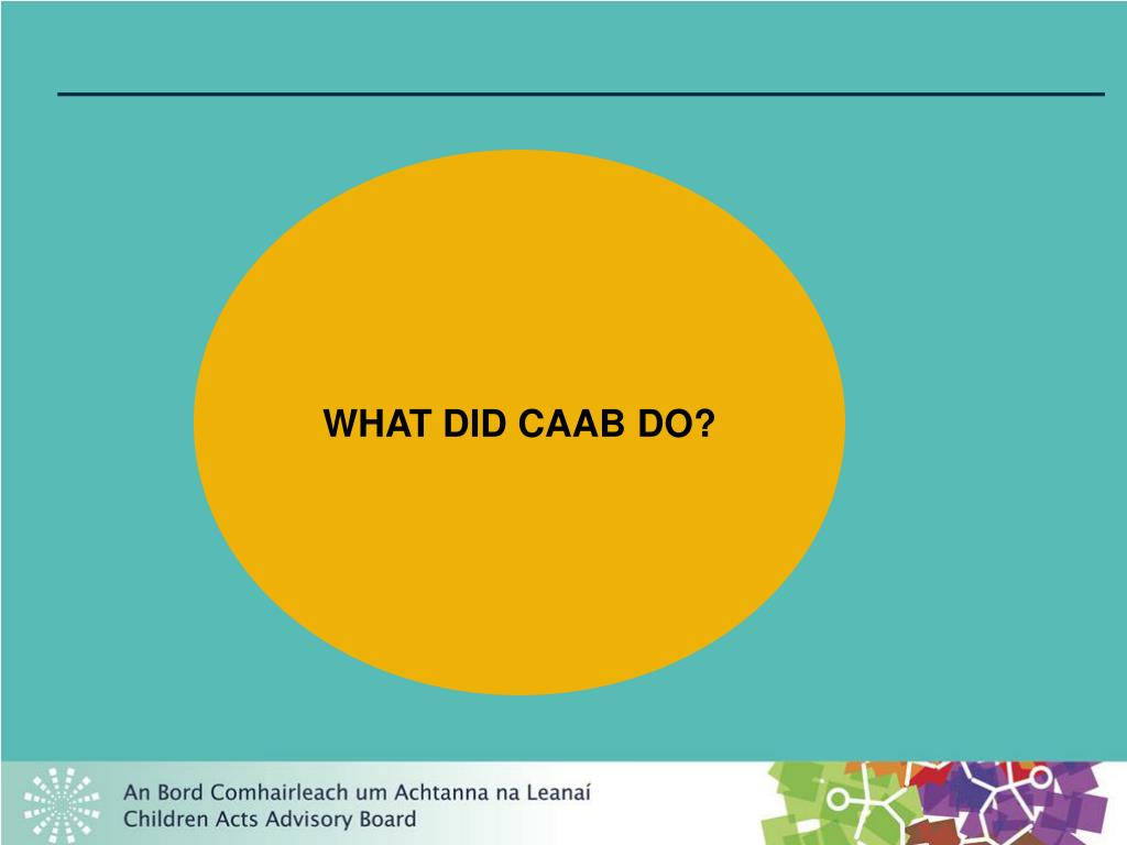 WHAT DID CAAB DO?